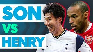 Spurs' Heung-Min Son Faces Arsenal's Thierry Henry in the Bin Challenge!   Sonsational