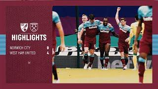 EXTENDED HIGHLIGHTS | NORWICH CITY 0-4 WEST HAM