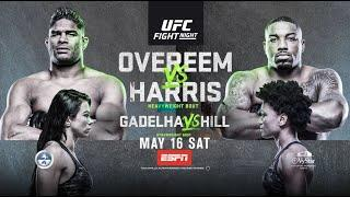 UFC Fight Night: Overeem vs Harris - Live on Saturday Night