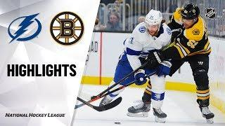 NHL Highlights | Lightning @ Bruins 3/7/20