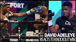 """""""He's weak to the body!"""" Tyson Fury's sparring partner David Adeleye reacts to another knockout win"""