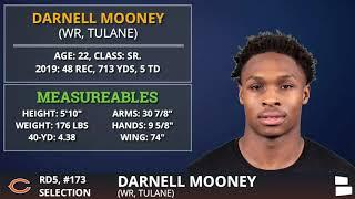 Chicago Bears Trade Up To Pick WR Darnell Mooney from Tulane In 5th Round of 2020 NFL Draft