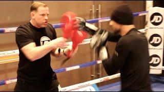 WILL HE KNOCKOUT JOSH KELLY? - EUROPEAN CHAMP DAVID AVANESYAN SHOWS INSANE POWER & SPEED ON THE PADS