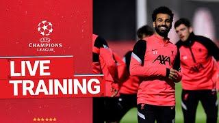 Live Training: Liverpool prepare ahead of RB Leipzig
