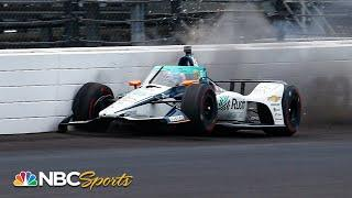 Fernando Alonso wrecks during Indianapolis 500 practice at IMS   Motorsports on NBC