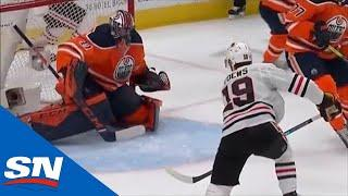 Blackhawks Score Four Unanswered Goals On The Oilers In First Period
