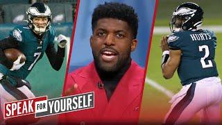 'Eagles game was meaningless'; talks Wentz & Sudfeld v Hurts at QB — Acho | NFL | SPEAK FOR YOURSELF