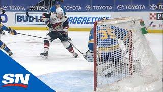 Clayton Keller Sneaks In And Burns Blues' Defence For Goal