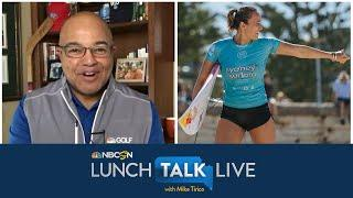 Surfing champ Carissa Moore carrying Olympic momentum into 2021 | Lunch Talk Live | NBC Sports