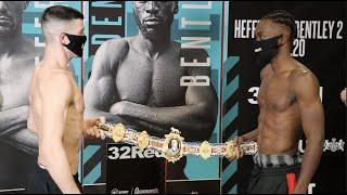 REMATCH FOR THE BRITISH TITLE & BRAGGING RIGHTS! - MARK HEFFRON v DENZEL BENTLEY (OFFICIAL) WEIGH-IN