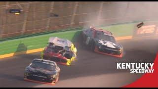 Xfinity Series race with a wreck on Lap 1, Jeb Burton spins | NASCAR at Kentucky