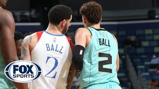 LaVar Ball Reacts to Watching Lonzo and LaMelo's First NBA Matchup | FOX SPORTS