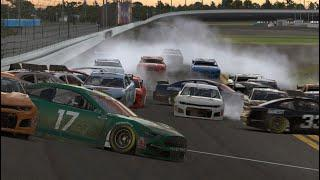 'The Big One' strikes late during Coca-Cola iRacing Clash