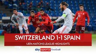 Equaliser rescues Ramos after awful penalty miss | Switzerland 1-1 Spain | Nations League Highlights