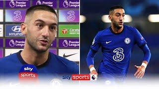 Hakim Ziyech reacts to Chelsea's 4-1 win over Sheffield United after getting two assists!