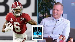 Chris Simms WR draft rankings: No. 2 Devonta Smith | Chris Simms Unbuttoned | NBC Sports