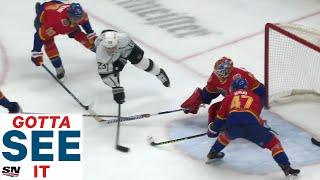 GOTTA SEE IT: Dustin Brown Scores While Flying Through The Air