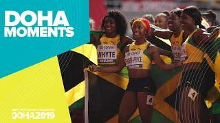 Jamaica Wins Women's 4x100m Gold | World Athletics Championships 2019 | Doha Moments