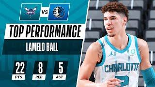 LaMelo Ball Tallies A Team-High 22 PTS, 8 REB, 5 AST In The Hornets W