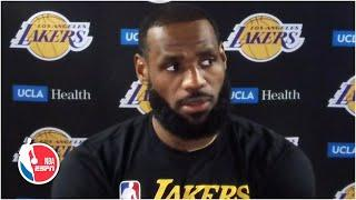 LeBron James admits he and Lakers are not mentally ready for the playoffs yet | NBA on ESPN