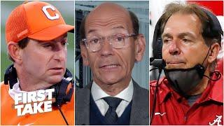 Paul Finebaum previews the CFP semifinal games: Clemson-Ohio State & Alabama-Notre Dame | First Take