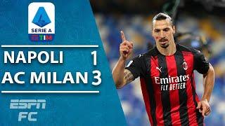 AC Milan's Zlatan Ibrahimovic scores with his head and knee to beat Napoli |  Serie A Highlights