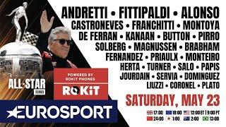 The Race All-Star Series ft. Andretti, Fittipaldi & fellow F1, Indy, NASCAR Legends! | EUROSPORT
