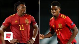 Spain NEEDS Adama Traore & Ansu Fati  on the pitch at the same time - Alejandro Moreno | ESPN FC