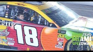 Brexton Busch takes victory lap with dad in the No. 18 | NASCAR at Homestead-Miami Speedway
