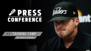 Coach Gruden Reacts To Practicing at Allegiant Stadium | Las Vegas Raiders