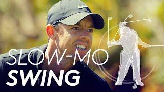 Rory McIlroy's golf swing in Slow Motion