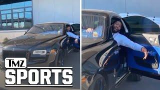 Anthony Davis Hits Lakers Practice In Sick New Rolls-Royce, Roasted By Kuzma! | TMZ Sports