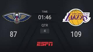 Pelicans @ Lakers | NBA on ESPN Live Scoreboard