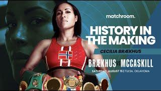 Cecilia Brækhus targets record-breaking victory on August 15 vs Jessica McCaskill