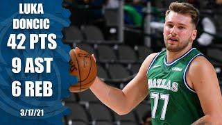 Luka Doncic goes off for 42 points vs. the Clippers [HIGHLIGHTS]   NBA on ESPN