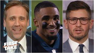 Max reacts to Jalen Hurts leading the Eagles to a win over the Saints   First Take