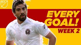 Pizarro's First Goal & Carlos Vela Freekick + Defender's 40 Yard GOLAZO! | EVERY MLS GOAL WEEK 2