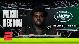New York Jets select Mekhi Becton with 11th overall pick | 2020 NFL Draft