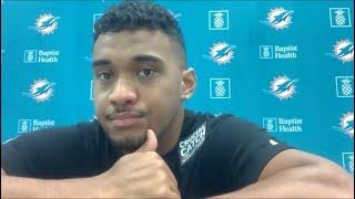 Jerome Baker, Ryan Fitzpatrick, and Tua Tagovailoa Meet With the Media | Dolphins Press Conferences