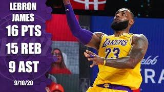 LeBron James nearly records triple-double [GAME 4 HIGHLIGHTS] | 2020 NBA Playoffs