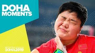 Gong Powers to Shot Put Gold | World Athletics Championships 2019 | Doha Moments
