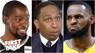 LeBron is going to be waiting for you! - Stephen A. to Kevin Durant | First Take