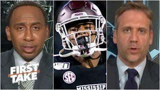 First Take discusses Mississippi State RB Kylin Hill vowing not to play unless state flag is changed