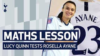 SPURS WOMEN'S MATHS LESSON | Can you add up squad numbers quicker than mastermind Rosella Ayane?