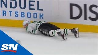 Corey Perry Loses An Edge & Falls Awkwardly Against The Boards
