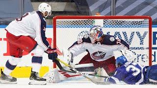 Joonas Korpisalo sets NHL record with 74th save