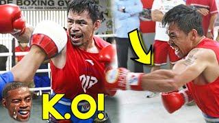 (LEAKED!) MANNY PACQUIAO TRAINING CAMP, SPARRING TO RETIRE ERROL SPENCE JR (INSАNЕ SPEED!)