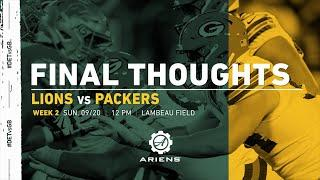 Packers vs. Lions | Final Thoughts
