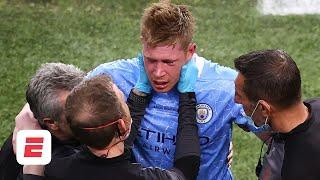 Kevin De Bruyne suffers facial fractures in UCL final: Should Rudiger have seen red? | ESPN FC