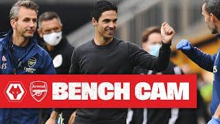 BENCH CAM | Wolves 0-2 Arsenal | Mikel Arteta | Premier League